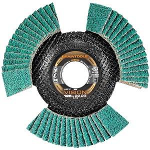 Lamellar flap grinding disc, Ø 125 mm, 80 grain RHODIUS 207079