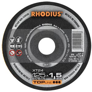 High-performance cutting disc Ø = 125 mm RHODIUS 205911