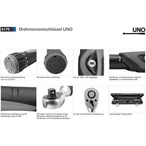 Drehmomentschlüssel, 10-100 Nm, 9 x 12 mm, Uno MATADOR 6175 5100