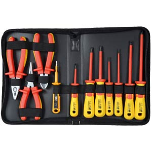 Electrician's tool kit, 11-piece, VDE SPROTEK ST-7639
