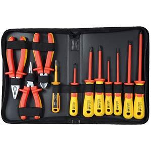 Werkzeugsatz, VDE, Zangen, Schraubendreher, 11-teilig SPROTEK ST-7639