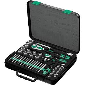 Zyklop socket set 1/4´´+12´´ drive WERA 5160785001