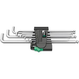 Hexagon angle key wrench, 9-piece WERA 5073594001