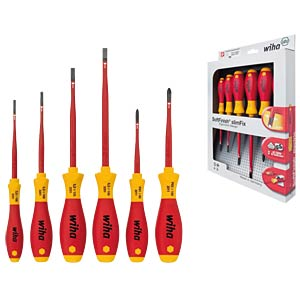 Screwdriver set, slotted and Phillips WIHA 35389