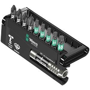 Bit-Satz Bit-Check 10 Impaktor 4, 10-teilig gemischt, Torsion WERA 05057417001