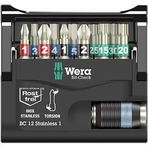 Bit-Check 12 Stainless 1 WERA 05057425001