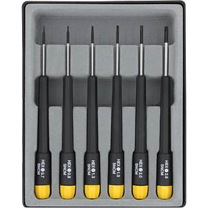 Hexagon screwdriver, 6 pieces, metric DONAU 280-63