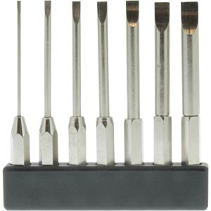 4-mm mini bit set, long, slot, 7 pieces DONAU MBS70