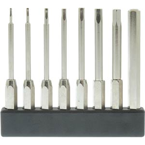 4-mm mini bit set, long, hexagon, 8 pieces DONAU MBS73