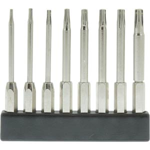 4-mm mini bit set, long, TX, 8 pieces DONAU MBS77