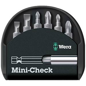 Wera mini check, bit set, slot/PH/PZ WERA 05056295001