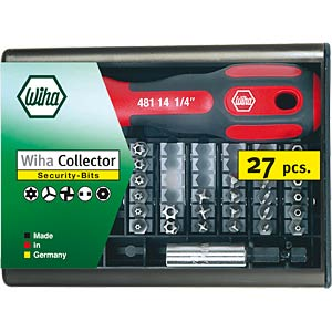 Bit-Satz Bits-Collector, 27-teilig Security Bits WIHA 09393