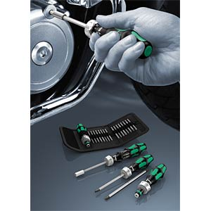 WERA bit set in roll-up case, with ratchet function WERA 05051040001