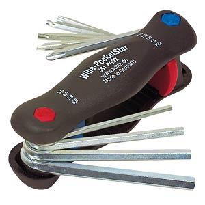 Stiftschlüsselsatz, Innensechskant, 3-6, Schlitz, PH, 9-teilig WIHA 25293