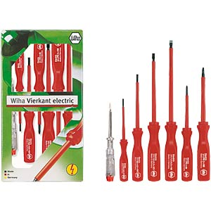 7-piece screwdriver set, slotted/Phillips WIHA 07151