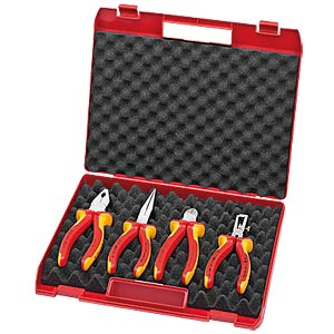 Kompakt-Box 4-teilig mit VDE-Werkzeugen KNIPEX 00 20 15