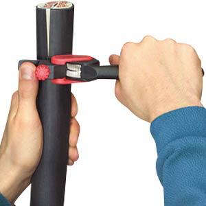 Abmantelwerkzeug, 150 mm, für Rundkabel, ab 25,0 mm² KNIPEX 16 40 150
