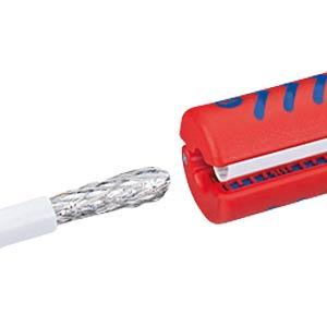 Abisolierwerkzeug für Koax-Kabel 100 mm KNIPEX 16 60 100 SB