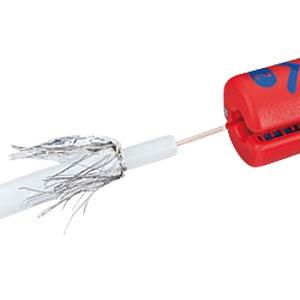 Abisolierwerkzeug, 100 mm, für Koaxkabel, 4,8-7,5 mm² KNIPEX 16 60 100 SB