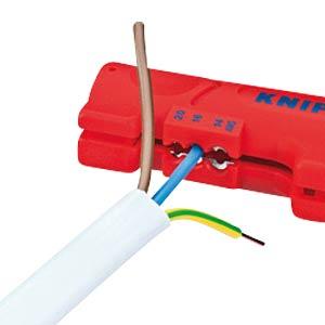 Abisolierwerkzeug, für Flach- und Rundkabel, 4,0-13,0 mm² KNIPEX 16 64 125 SB