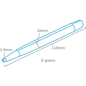 Glasfaserstift, 4 mm RND LAB 550-00224