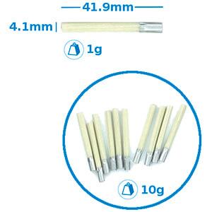 Glasfaser-Ersatzpinsel, 4 mm, 10 Stück RND LAB 550-00225