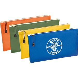 Werkzeugtasche, Reißverschlusstasche, 108 x 177 x 317 mm, 4-er P KLEIN TOOLS 5140