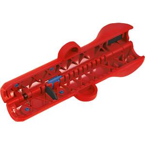 Abisolierwerkzeug, Stripper No. 10 rot/blau, Netzwerkkabel WEICON 52000010