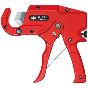 Pipe Cutter for plastic conduit pipes KNIPEX 94 10 185