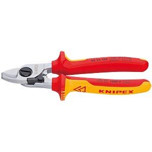 Kabelschere, 165 mm, für Cu und Al-Kabel, 15,0 mm² KNIPEX 95 26 165