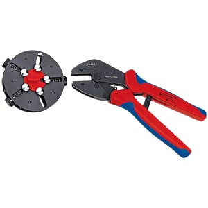 KNIPEX MultiCrimp®with changer magazine and 3 crimping dies KNIPEX 97 33 01