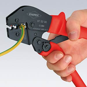 Krimphefboomtang, 0,5-6,0mm² geïsol. connect. KNIPEX 97 52 06
