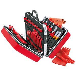 Werkzeugsatz, VDE, Werkzeugkoffer, Elektriker, 48-teilig KNIPEX 98 99 14