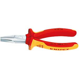 Flat nose pliers polished, 2-component, 160 mm, VDE-tested KNIPEX 20 06 160
