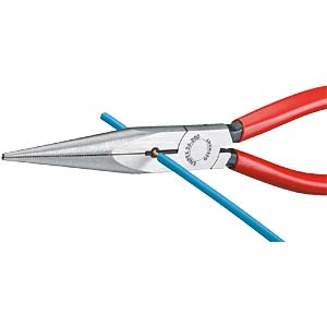 Snipe nose pliers with cutter 200 mm, straight KNIPEX 26 11 200