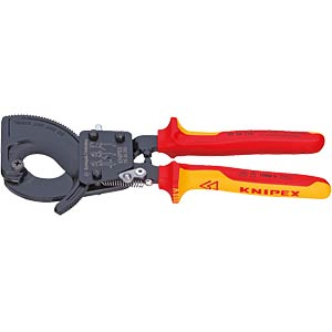 Cable shears 250 mm, with ratchet principle KNIPEX 95 36 250
