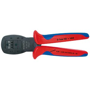 Crimping Pliers for D-Sub; HD 20; HDE Plug KNIPEX 97 54 24