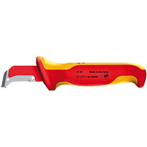Cable jacket knife 155 mm, sliding shoe KNIPEX 98 55