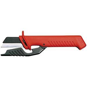Kabelmesser 185mm, klappbarer Klingenschutz KNIPEX 98 56
