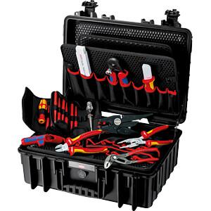 KN 00 21 35: Werkzeugsatz, Werkzeugkoffer, Robust23 Elektro, 25-teilig bei reichelt elektronik