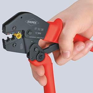Crimpzange, KOAX-, BNC- und TNC-Verbinder KNIPEX 97 52 10