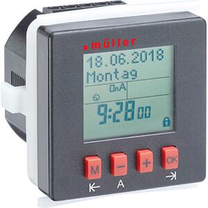 Digitale Zeitschaltuhr Schalttafel-Einbau, 230V HUGO MÜLLER 21812