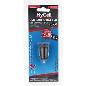 USB-Ladegerät, 5 V, 2400 mA, Kfz, 2 USB-Ports HYCELL 1000-0016