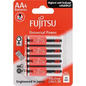 Alkaline Batterie, AA (Mignon), 4er-Pack FUJITSU FULR6G