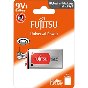 Fujitsu 9V alkaline batterij, blok, 1-pack FUJITSU 6LF22(1S)FU