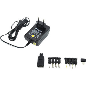 Steckernetzteil, 18 W, 3 - 12 V, 1,5 A RND POWER RND 320-00047