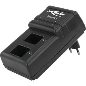 Steckerladegerät Powerline 2, prozessorgesteuert, NiCd, NiMh ANSMANN 5107043