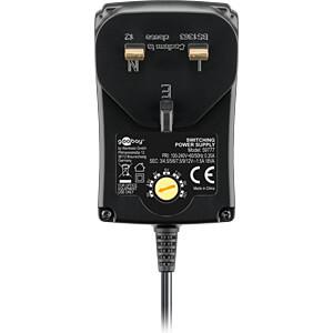 Universal-Schaltnetzteil, 18 W, 3 - 12 V, 1500 mA, UK-Version GOOBAY 59777