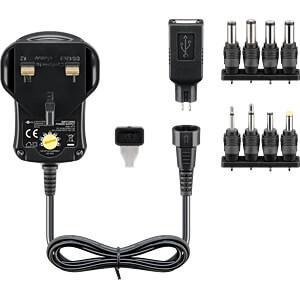 Universal-Schaltnetzteil, 7,2 W, 3 - 12 V, 600 mA, UK-Version GOOBAY 59779