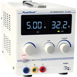 Laboratory power supply 0 - 30 V/0 - 5 A DC PEAKTECH 6140